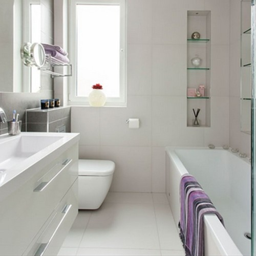15 ba os modernos color blanco for Banos blancos modernos