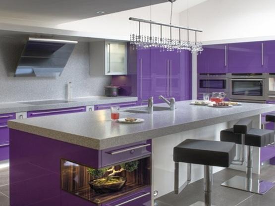 10 dise os de cocinas color p rpura - Cocina de color ...