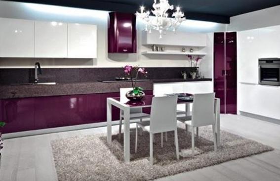 10 Diseños de Cocinas Color Púrpura
