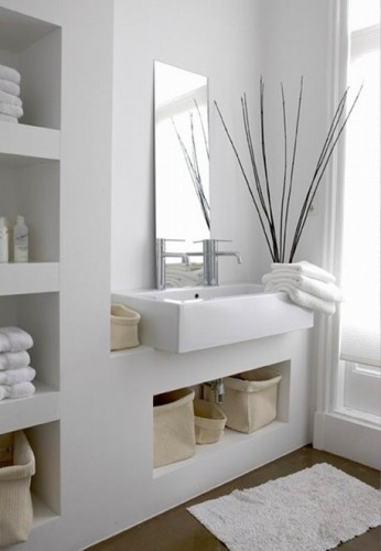 15 ba os modernos color blanco - Banos en blanco ...