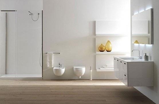Baños Modernos Blanco:15 Baños Modernos en Color Blanco