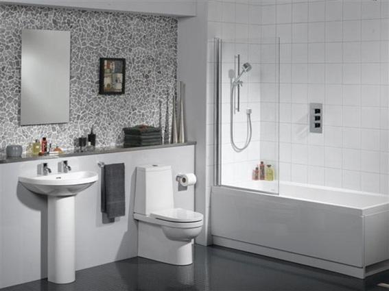 Baños Modernos Blanco:Presentamos una galería de imágenes de baños modernos color blanco