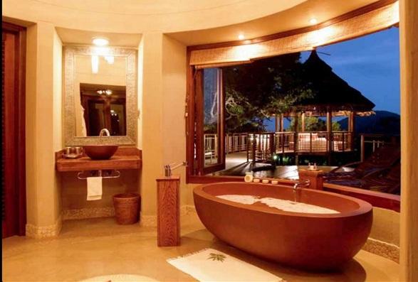 fabulosos dise os de ba os con tina o ba era. Black Bedroom Furniture Sets. Home Design Ideas