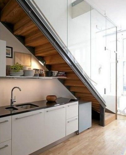 Dise os de cocinas bajo la escalera for Escalera de cocina
