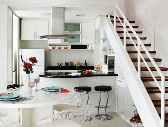 Dise os de cocinas bajo la escalera - Aprovechar cocinas pequenas ...