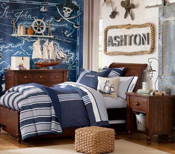 dormitorios para ni os estilo marinero. Black Bedroom Furniture Sets. Home Design Ideas