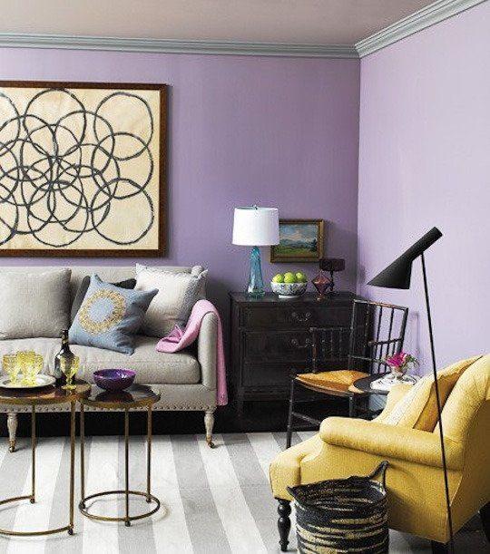 Purple Interior Designs Living Room: 15 Lindos Diseños De Salas Femeninas