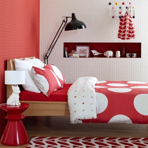11 lindos dormitorios en color rojo - Papel pintado rojo y blanco ...