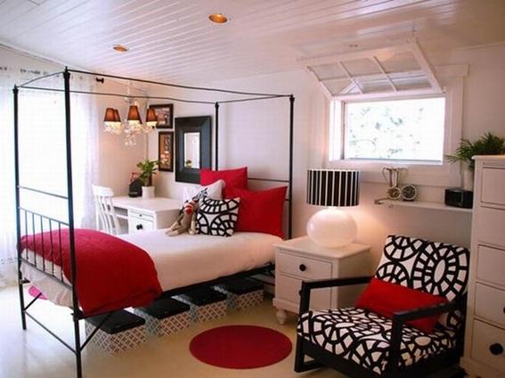 11 lindos dormitorios en color rojo - Decoracion blanco negro rojo ...