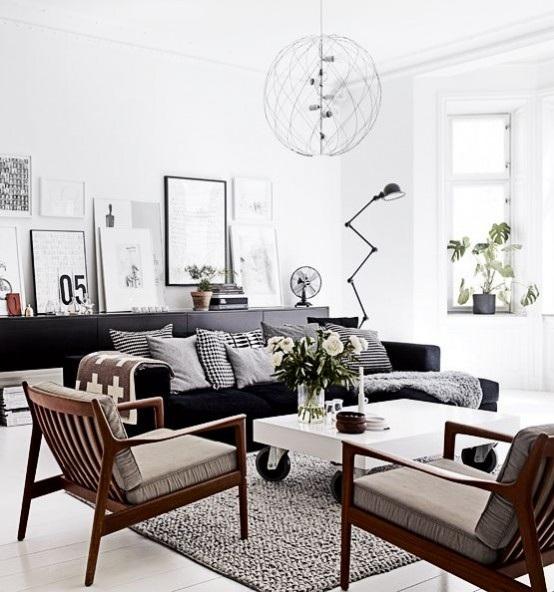 Apartamentos Decoracion Nordica ~ 26 Hermosas y Acogedoras Salas Estilo Escandinavo