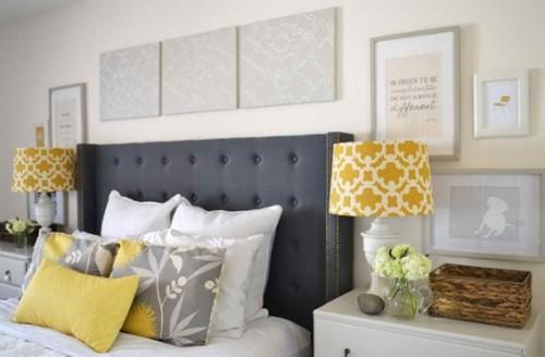 20 dormitorios decorados con gris for Dormitorio gris y negro