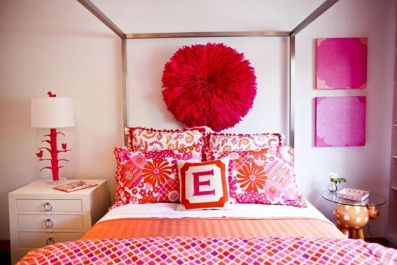 Dormitorios juveniles decorados color naranja