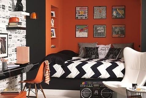 dormitorio-juvenil-color-naranja