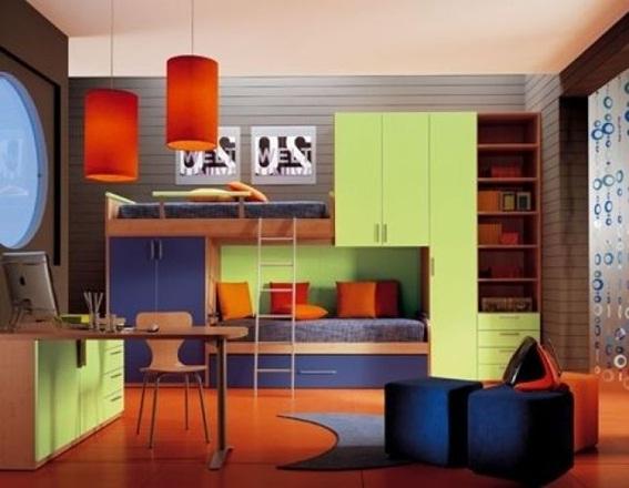 Dormitorios juveniles decorados color naranja - Colores dormitorio juvenil ...