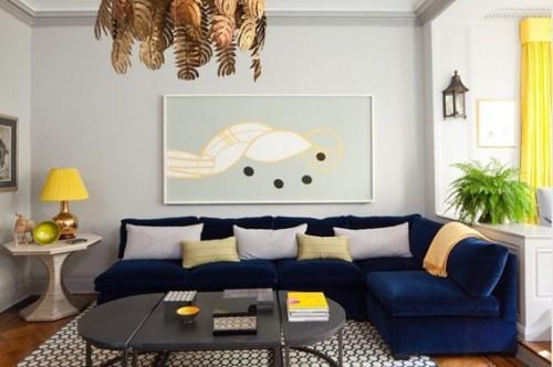 sala-decorada-sofá-azul-10