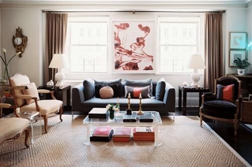 Fotos de salas decoradas con sof s color azul - Cojines de colores para decorar ...