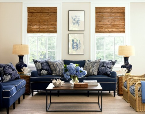 sala-decorada-sofá-azul-5