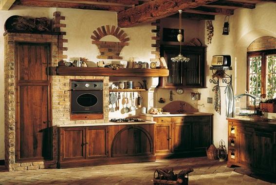 Fotos de cocinas estilo r stico for Estilos de cocinas