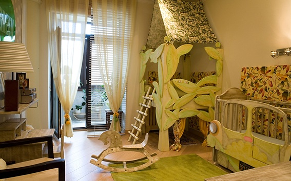 Dormitorios infantiles decorados con verde - Dormitorio infantil original ...