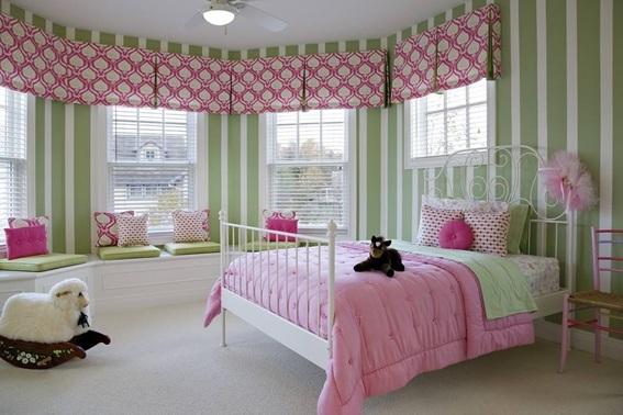 Dormitorios infantiles decorados con verde for Pinterest habitaciones