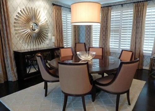 13 comedores decorados con mesa redonda para el hogar for Antecomedores modernos pequenos