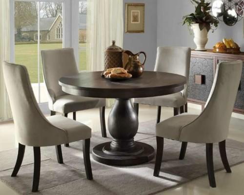 13 comedores decorados con mesa redonda para el hogar for Mesa vidrio redonda para comedor