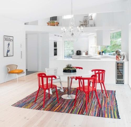 13 comedores decorados con mesa redonda para el hogar