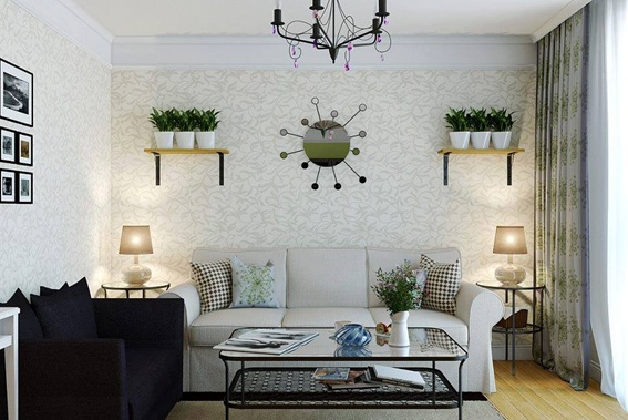 Salas decoradas con plantas for Decoracion paredes salas pequenas