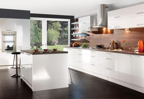 15 cocinas modernas con gabinetes color blanco - Houzz cocinas ...
