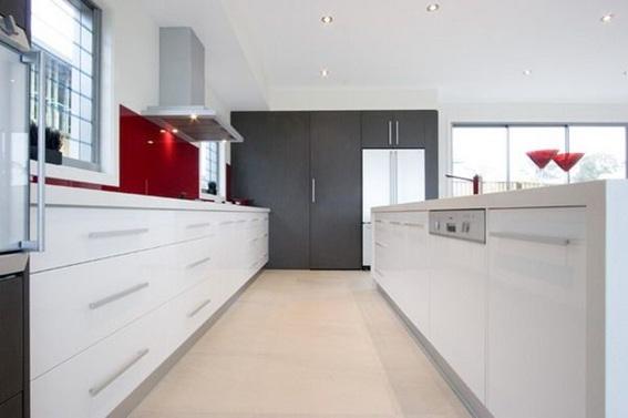15 cocinas modernas con gabinetes color blanco