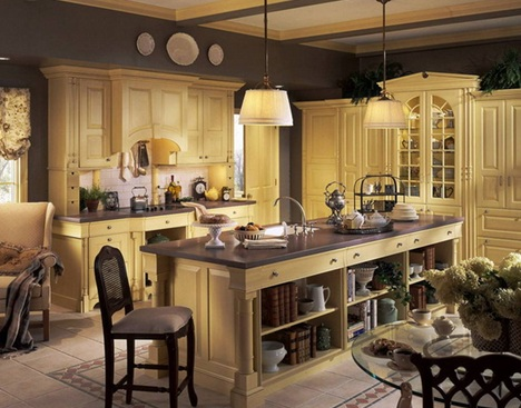 Hermosos dise os de cocinas francesas antiguas for Cocinas antiguas