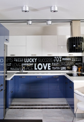 20 dise os para salplicaderos de cocina for Black n white kitchen ideas