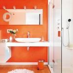 18 Baños Decorados en Naranja