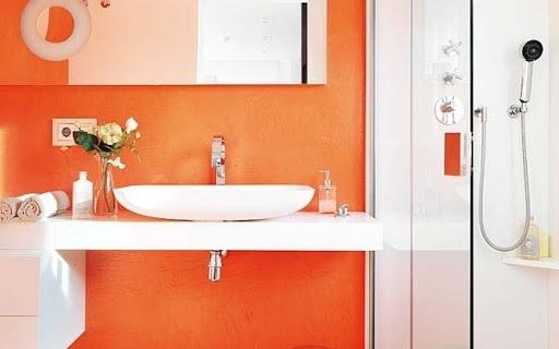 Color naranja for Remodelacion de apartamentos pequenos