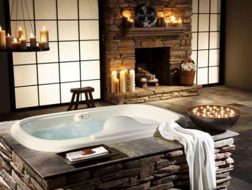 diseño baño rústico