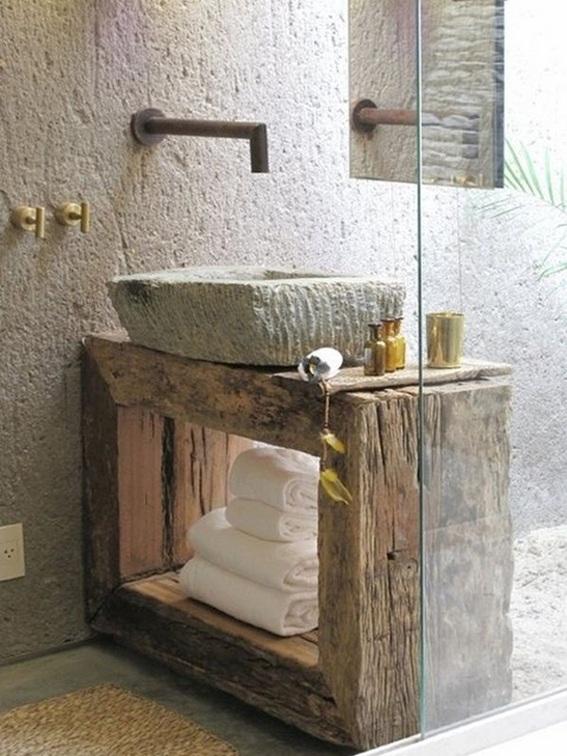 Ideas Baños Rusticos:21 Ideas para Decorar Baños Rústicos