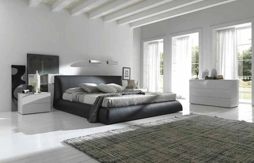dormitorio pareja gris y blanco