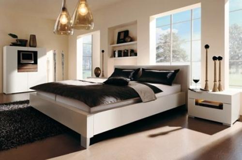 dormitorio pareja blanco y negro