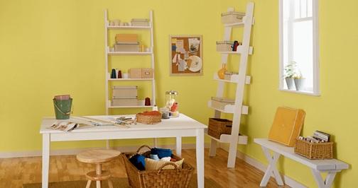 24 dise os de oficinas en varios colores para el hogar - Habitaciones amarillas ...