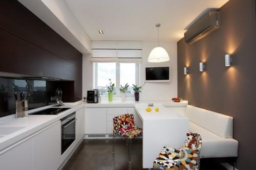 Dise os de cocinas peque as y modernas - Pintura para baldosas de cocina ...