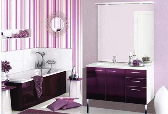 Imagenes Baños Femeninos:Un baño moderno y femenino decorado en blanco y con diferentes