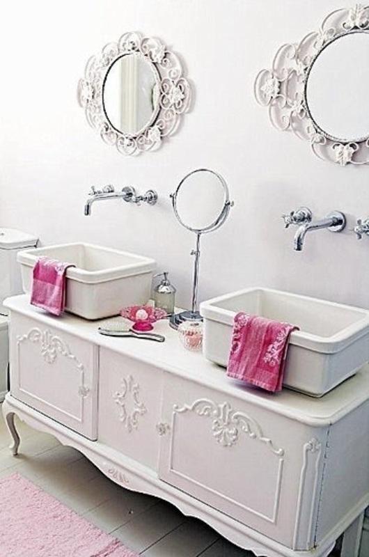 Imagenes Baños Femeninos: detalles curvos, son estupendos para crear un entorno femenino
