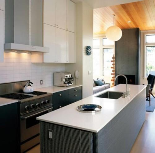 17 dise os de cocinas minimalistas modernas for Cocinas minimalistas pequenas