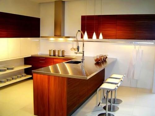 18 dise os de cocinas modernas for Cocinas enchapadas