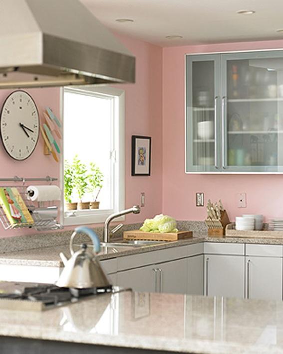 19 dise os de cocinas en color rosa - Cocinas rosa fucsia ...