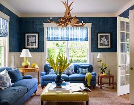 15 Refrescantes Dise Os De Salas En Color Azul