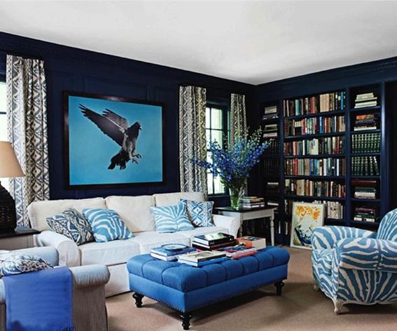 Habitacion azul y fucsia