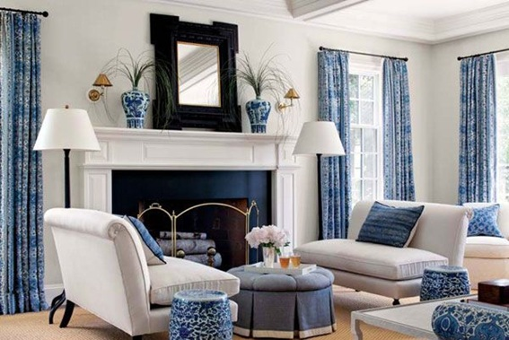 blue black and white living room 15 refrescantes dise 241 os de salas en color azul 25964