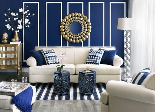 15 refrescantes dise os de salas en color azul for Decoracion petrole azul