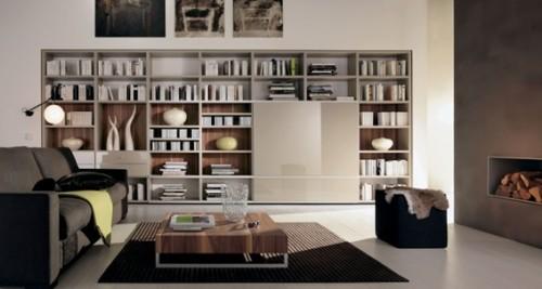 sala moderna librero